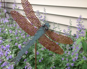 Dragonfly, Dragon Fly, Yard Art, Garden art, Dragonfly Garden Sculpture