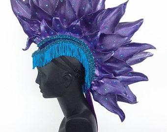 Purple Mohawk Headdress