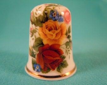 Thimble Bone China with Roses