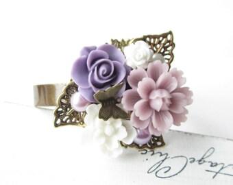 Armreif,Armband,bracelet,cuff,Hochzeit,wedding,Braut,bride,Vintage,flower wedding,flower bracelet,flower cuff,lavendel,weiß,white,lavender