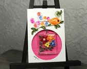 Gift and Card/quilled keychain/keyring/quilled flower bouquet/quilled mat/decorative mat/photo framing