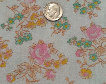 Vintage Shabby Cottage Chic Pink Orange Floral Duvet Supplies Fabric