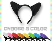 Cat Ears Headband - Choose a Color Soft AntiPill Fleece Kitty Ears for Child, Teen, and Adult
