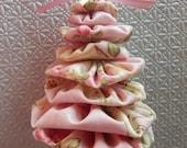 Shabby Chic Pink Yo Yo Tree Ornament