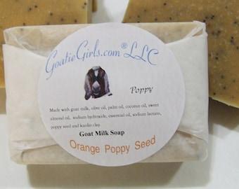 Orange Poppy Seed Goat Milk Soap with Kaolin Clay