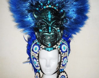 I Bugis Mystical Mask Seashell Dance Drag Showgirl Headdress
