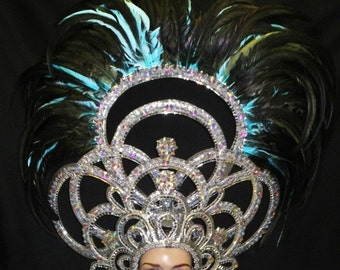 Cabaret Vegas Showgirl Circuit Thunder Crystal Queen Headdress