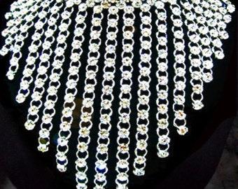 Party Showgirl Vegas Drag Cabaret Crystal Necklace