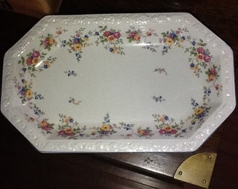 Vintage 1930's Rosenthale Serving platter Maria series with flowers