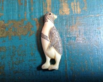 Penguin  Bone Pendant