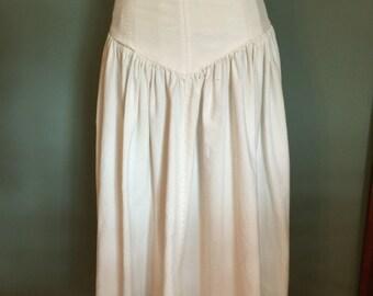 70's/80's V-Front Skirt, XS/S