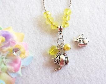10 Tea Party  Necklaces Party Favors.