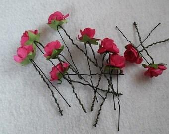 10  Beautiful Rose Hair Pin.