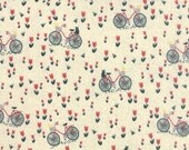 Bicycle and Tulip Fabric - Mon Ami by Basicgrey from Moda - 1/2 Yard