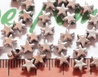 20 Gram per pack 4x2mm Tiny Star Beads Antique Silver Finish Lead Free Pewter