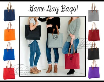 Personalized Tote ~ FREE Personalization ~ Monogrammed Tote in School Colors ~ Personalized Teacher Gift ~ Monogrammed Tote ~ quick shipping