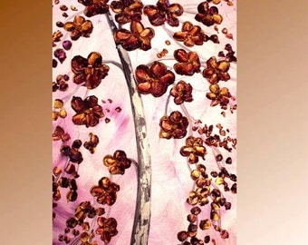 "Original Large 40"" oil impasto floral painting Signature style, by Nicolette Vaughan Horner"