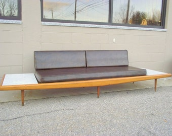 ORIGINAL Adrian Pearsall Platform Sofa Couch Mid Century Modern With  Floating Marble End Tables   Gondola