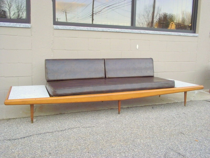 Mid Century Modern Adrian Pearsall Platform Sofa Couch With
