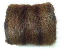 Mink Fur Muff - Vintage Fur Muff - Real Fur Mink - Nordic Winter - Hand and Arm Warmer