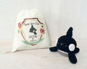 Orson the Orca DIY Crochet Kit