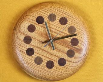 Wall clock solid Oak