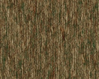 BEAR MEADOW-brown bark~treee- landscape  by the 1/2 yard Wilmington fabric-94755-227