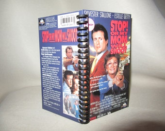 Stop! Or My Mom Will Shoot VHS box notebook