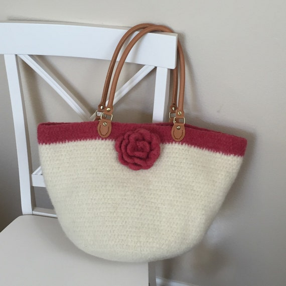 Easy Felted Crochet Bag Pattern : Crochet Purse Pattern Crochet Felted by DeborahOLearyPattern
