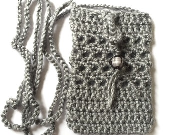 Crochet Sokie Dokie Cell Phone Pouch, cellphone bag, cellphone purse, small bag, bag, purse, pouch, iPhone pouch and samsung's phones