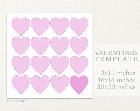 Valentines template, Valentines collage, Valentines photo collage template, 12x12, 16x16, 20x20 Storyboard for photographers, 16 pictures