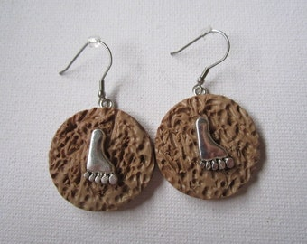 Sasquatch (Bigfoot) Print Earrings