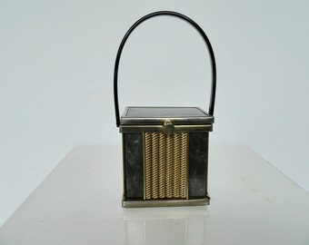 Vintage Lucite cube purse by Tyrolean NY.  Collectible Lucite purse.  15% discount w code