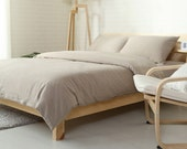 Duvet cover Taupe Gray color pure Linen Flax - Washed Softened Medium weight - Twin Full Double Queen King Cal King - USA size