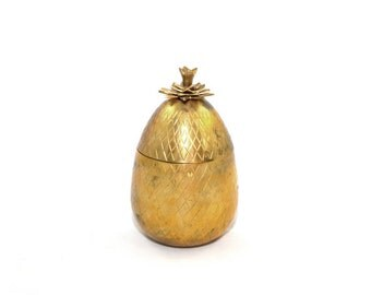 Brass Mottahedeh Pineapple Brass Pineapple Box Pineapple Bar Pineapple Decor Gold Pineapple Box