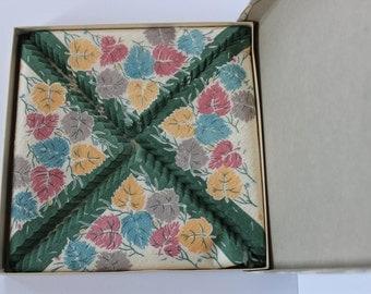 Vintage Floral Paper Napkins In Original Packaging - Made In Germany