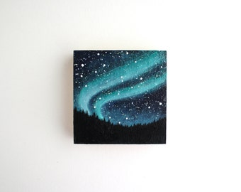 Northern Lights Painting - 3 x 3