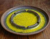 Mid Century Modern Brent Bennett Studio Pottery Dish -  Handmade Modernist Ceramic Ashtray