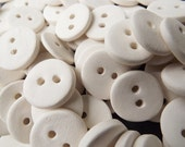 10 x bisque fired earthenware buttons for glazing or painting or diffusing