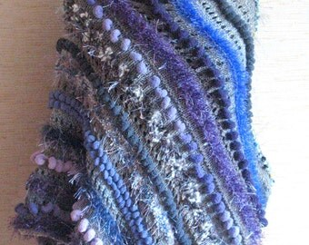 Cape Poncho Brown Purple Blue Gray Hand Knitting Cape
