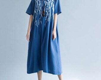 Summer blue long dress wine red long dress