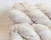 Sari Silk Ribbon in Dyeable Bone Ivory