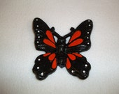 Cast Iron Butterfly, Monarch Butterfly, Home Decor, Garden Decor, Black and Orange