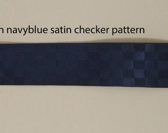 Checker patterend satin ribbon