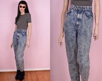 80s Acid Wash High Waisted Jeans