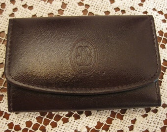 Brown leather key case by Buxton