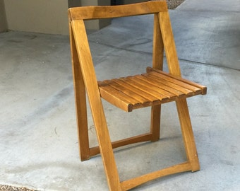 Mid century teak chair Danish A-frame folding chair fold up chair Danish Modern great lines