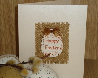 Holiday Greeting Congratulations Cards - Happy Easter Holiday Greeting Card, Spring Easter Card, Easter Egg, Handmade Blank Art Card