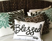 BLESSED 14x20 Home Decor - Throw Pillow FREE SHIPPING!
