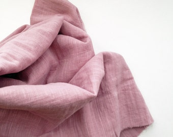 cotton double gauze fabric. soft japanese pure cotton fabric. 102cm (40in) wide. sold by 50cm (19in) long / half yard. old rose pink